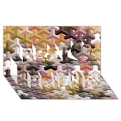 Mosaic & Co 02b Best Friends 3d Greeting Card (8x4)  by MoreColorsinLife