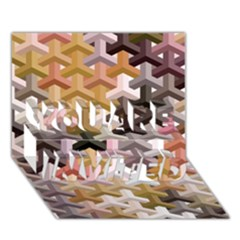 Mosaic & Co 02b You Are Invited 3d Greeting Card (7x5)