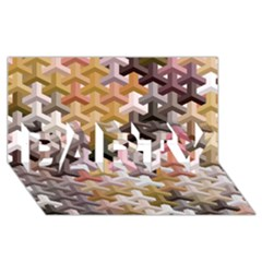 Mosaic & Co 02b Party 3d Greeting Card (8x4)  by MoreColorsinLife