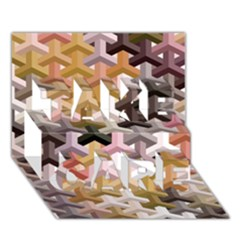 Mosaic & Co 02b Take Care 3d Greeting Card (7x5)  by MoreColorsinLife