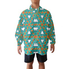Triangles and other shapes pattern Wind Breaker (Kids) by LalyLauraFLM