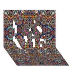 Kaleidoscope Folding Umbrella #10 Love 3d Greeting Card (7x5)