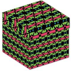 Shapes on a black background pattern Storage Stool by LalyLauraFLM