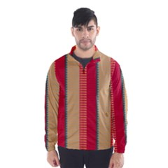 Stripes And Other Shapes Wind Breaker (men) by LalyLauraFLM