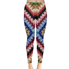 Colorful Diamond Crochet Women s Leggings by Costasonlineshop