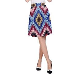 Colorful Diamond Crochet A Line Skirt by Costasonlineshop