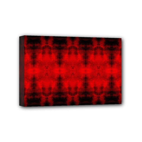 Red Black Gothic Pattern Mini Canvas 6  X 4  by Costasonlineshop