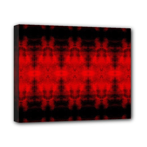 Red Black Gothic Pattern Canvas 10  X 8  by Costasonlineshop