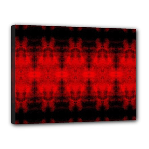 Red Black Gothic Pattern Canvas 16  X 12  by Costasonlineshop