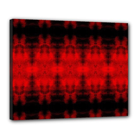Red Black Gothic Pattern Canvas 20  X 16  by Costasonlineshop
