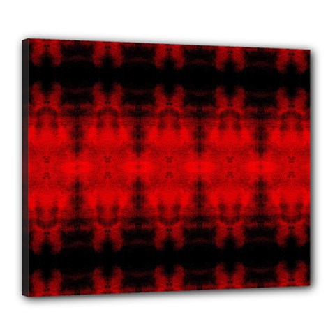 Red Black Gothic Pattern Canvas 24  X 20  by Costasonlineshop