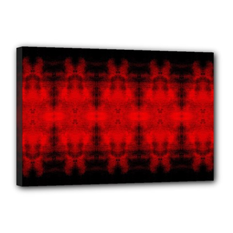 Red Black Gothic Pattern Canvas 18  X 12  by Costasonlineshop