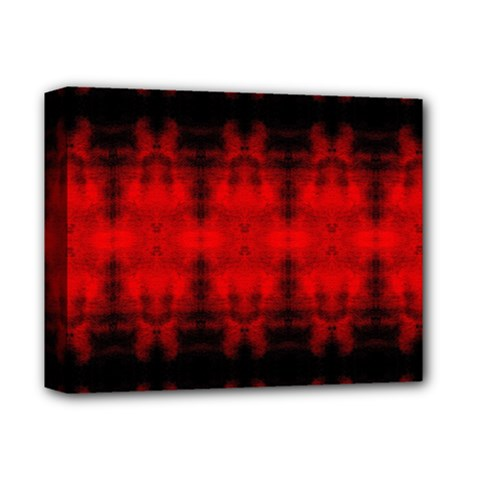 Red Black Gothic Pattern Deluxe Canvas 14  X 11  by Costasonlineshop