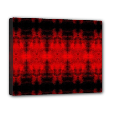 Red Black Gothic Pattern Deluxe Canvas 20  X 16   by Costasonlineshop