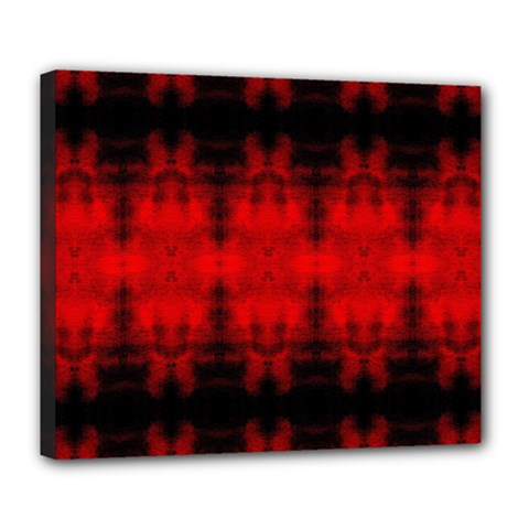 Red Black Gothic Pattern Deluxe Canvas 24  X 20   by Costasonlineshop