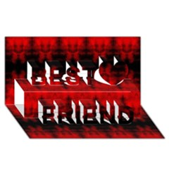 Red Black Gothic Pattern Best Friends 3d Greeting Card (8x4)