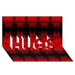 Red Black Gothic Pattern Hugs 3d Greeting Card (8x4)  by Costasonlineshop