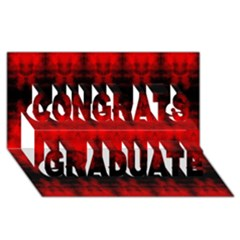 Red Black Gothic Pattern Congrats Graduate 3d Greeting Card (8x4)  by Costasonlineshop