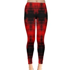Red Black Gothic Pattern Women s Leggings by Costasonlineshop