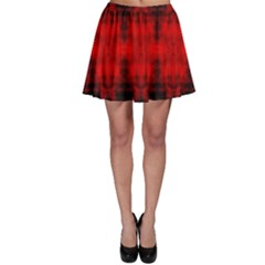 Red Black Gothic Pattern Skater Skirts by Costasonlineshop