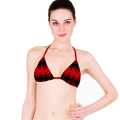Red Black Gothic Pattern Bikini Tops by Costasonlineshop