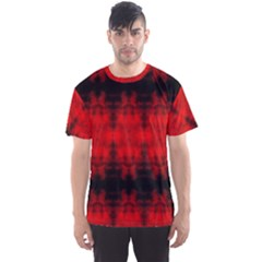 Red Black Gothic Pattern Men s Sport Mesh Tees by Costasonlineshop