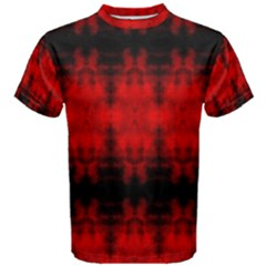 Red Black Gothic Pattern Men s Cotton Tees by Costasonlineshop