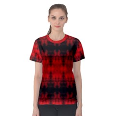 Red Black Gothic Pattern Women s Sport Mesh Tees by Costasonlineshop