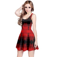 Red Black Gothic Pattern Reversible Sleeveless Dresses by Costasonlineshop