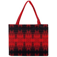 Red Black Gothic Pattern Tiny Tote Bags by Costasonlineshop