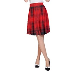 Red Black Gothic Pattern A Line Skirt by Costasonlineshop