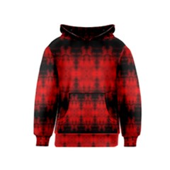 Red Black Gothic Pattern Kid s Pullover Hoodies by Costasonlineshop