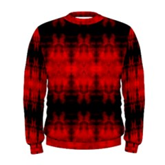 Red Black Gothic Pattern Men s Sweatshirts by Costasonlineshop
