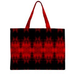 Red Black Gothic Pattern Zipper Tiny Tote Bags by Costasonlineshop
