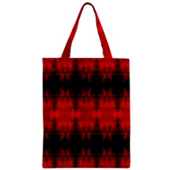Red Black Gothic Pattern Zipper Classic Tote Bags by Costasonlineshop