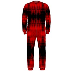 Red Black Gothic Pattern Onepiece Jumpsuit (men)  by Costasonlineshop