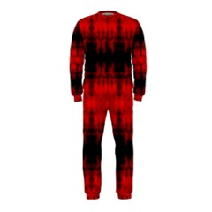 Red Black Gothic Pattern Onepiece Jumpsuit (kids) by Costasonlineshop