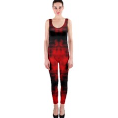 Red Black Gothic Pattern Onepiece Catsuits by Costasonlineshop