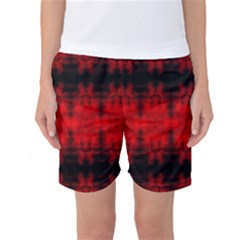 Red Black Gothic Pattern Women s Basketball Shorts by Costasonlineshop
