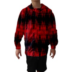 Red Black Gothic Pattern Hooded Wind Breaker (kids) by Costasonlineshop