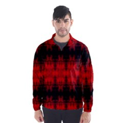 Red Black Gothic Pattern Wind Breaker (men) by Costasonlineshop