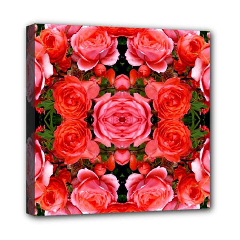 Beautiful Red Roses Mini Canvas 8  X 8
