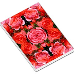 Beautiful Red Roses Large Memo Pads by Costasonlineshop