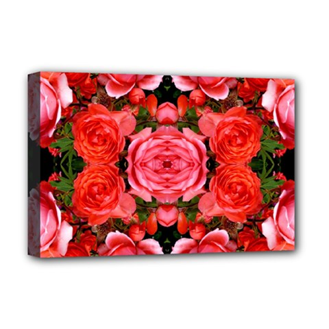Beautiful Red Roses Deluxe Canvas 18  X 12   by Costasonlineshop