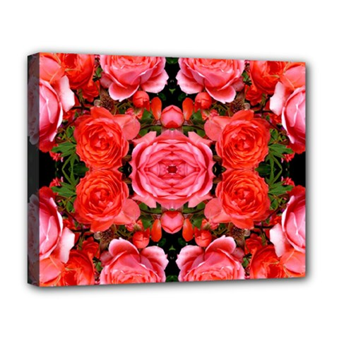 Beautiful Red Roses Deluxe Canvas 20  X 16   by Costasonlineshop