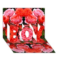 Beautiful Red Roses Boy 3d Greeting Card (7x5) by Costasonlineshop
