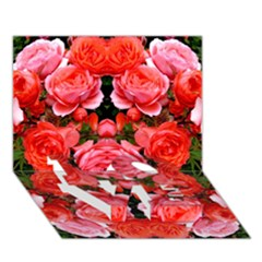 Beautiful Red Roses Love Bottom 3d Greeting Card (7x5)  by Costasonlineshop