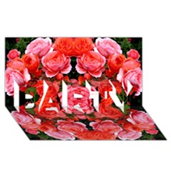 Beautiful Red Roses Party 3d Greeting Card (8x4)  by Costasonlineshop