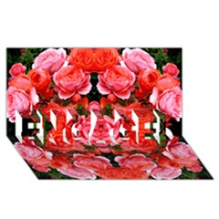 Beautiful Red Roses Engaged 3d Greeting Card (8x4)