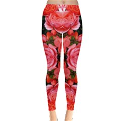 Beautiful Red Roses Women s Leggings by Costasonlineshop